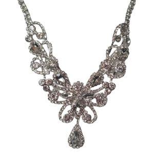 Prom Wedding Silver Rhinestones Necklace